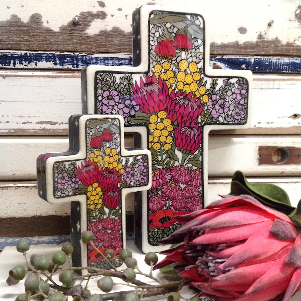 Lost & Found Wildflower Cross - Large & Small