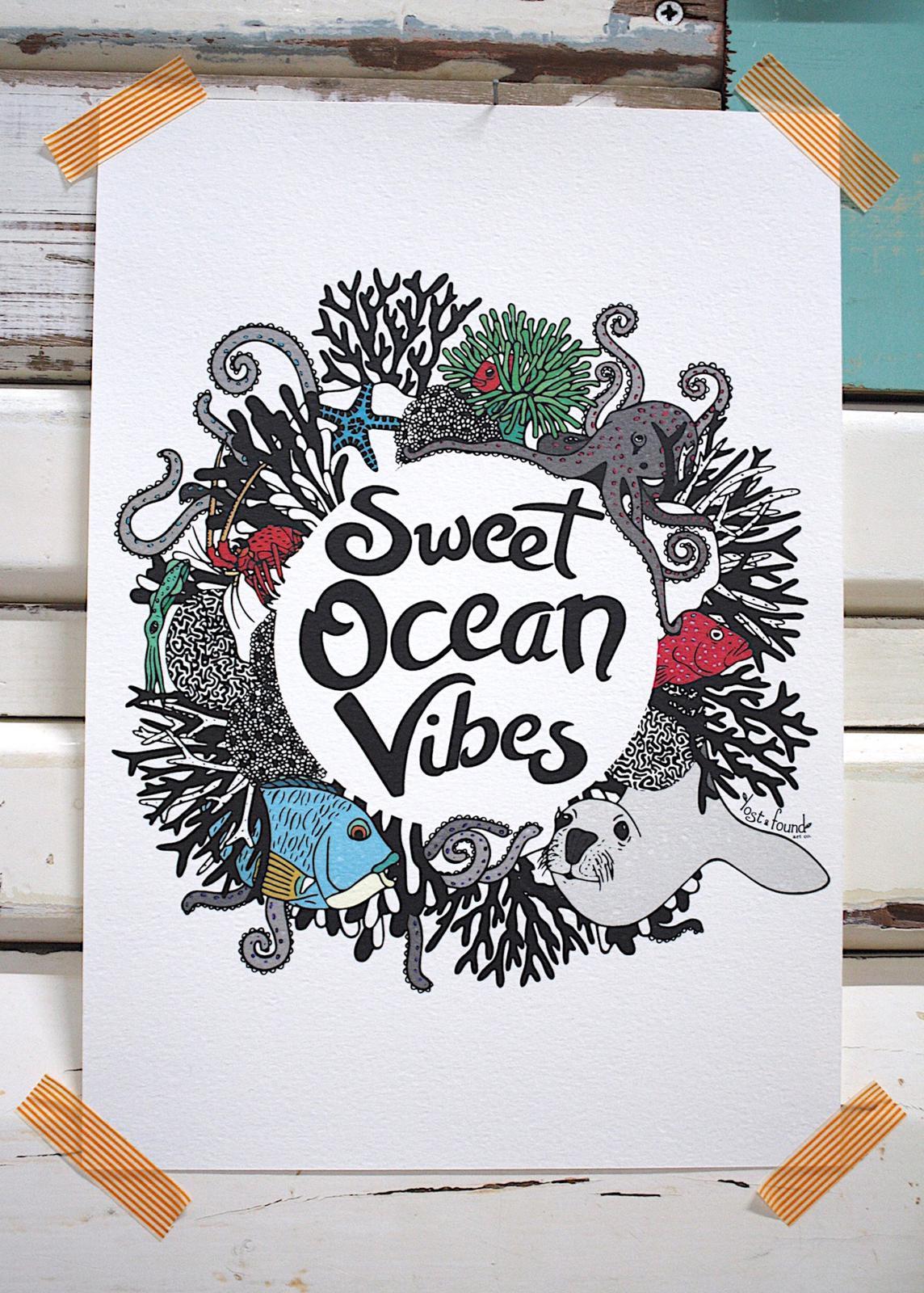Sweet Ocean Mandala Print