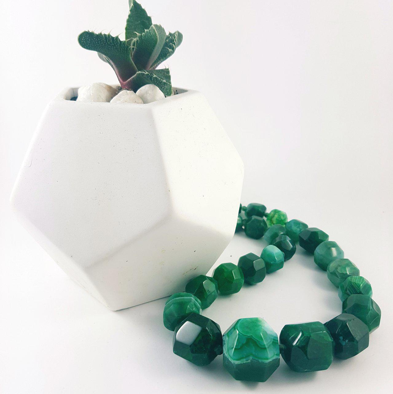 Wilma - Green Agate