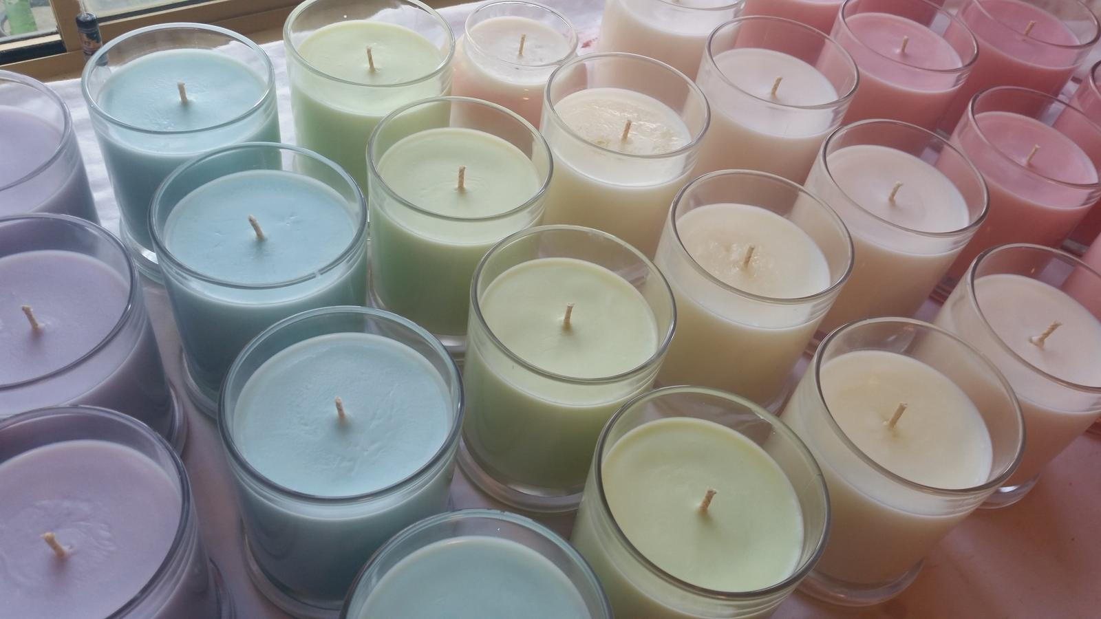 Pastel soy candles