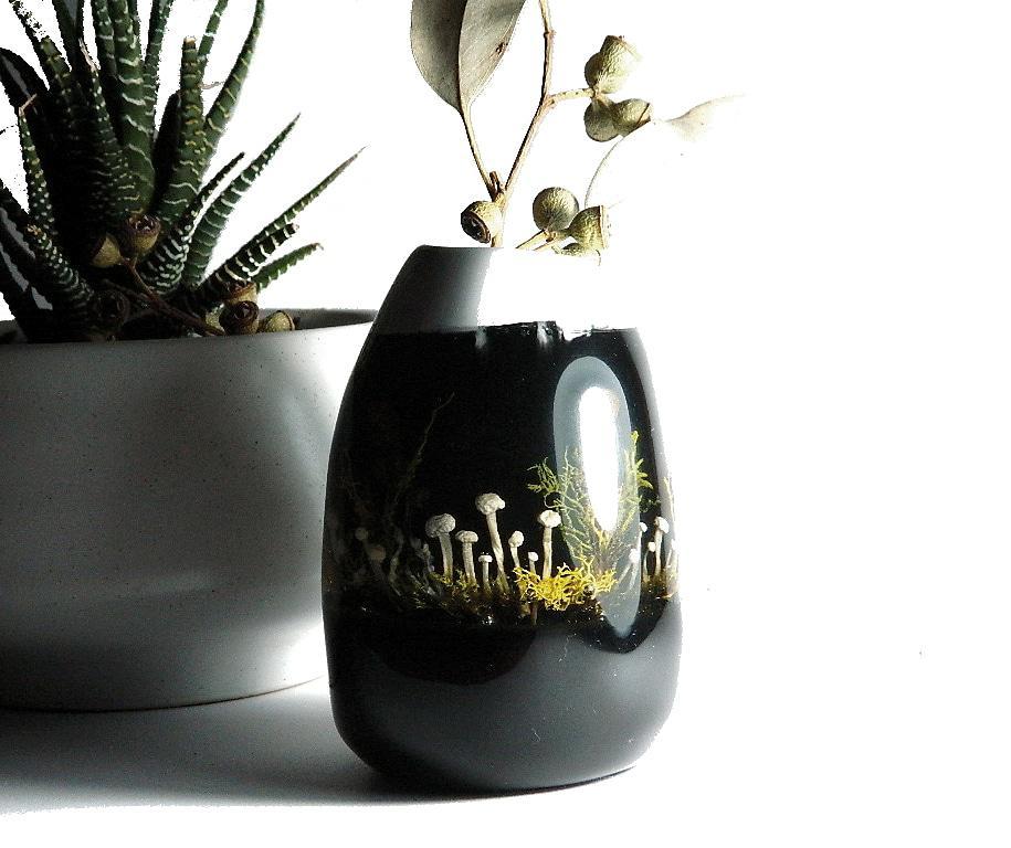Real Mushroom Marbled Vase