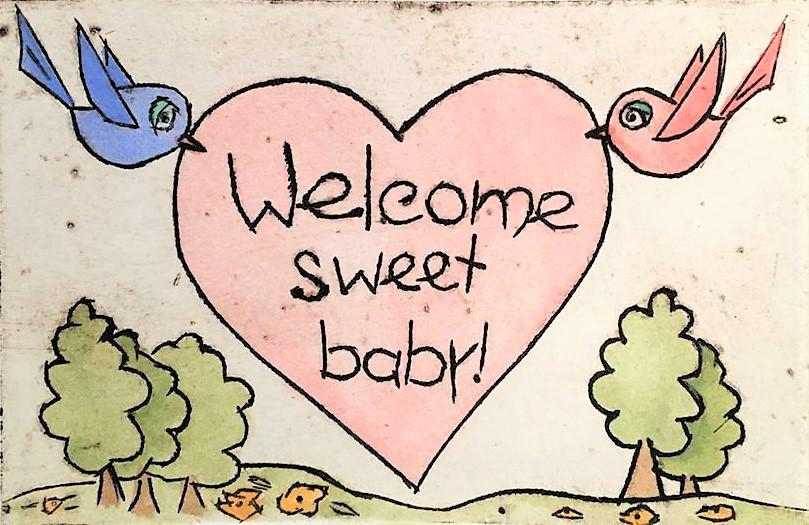WELCOME SWEET BABY - CARD