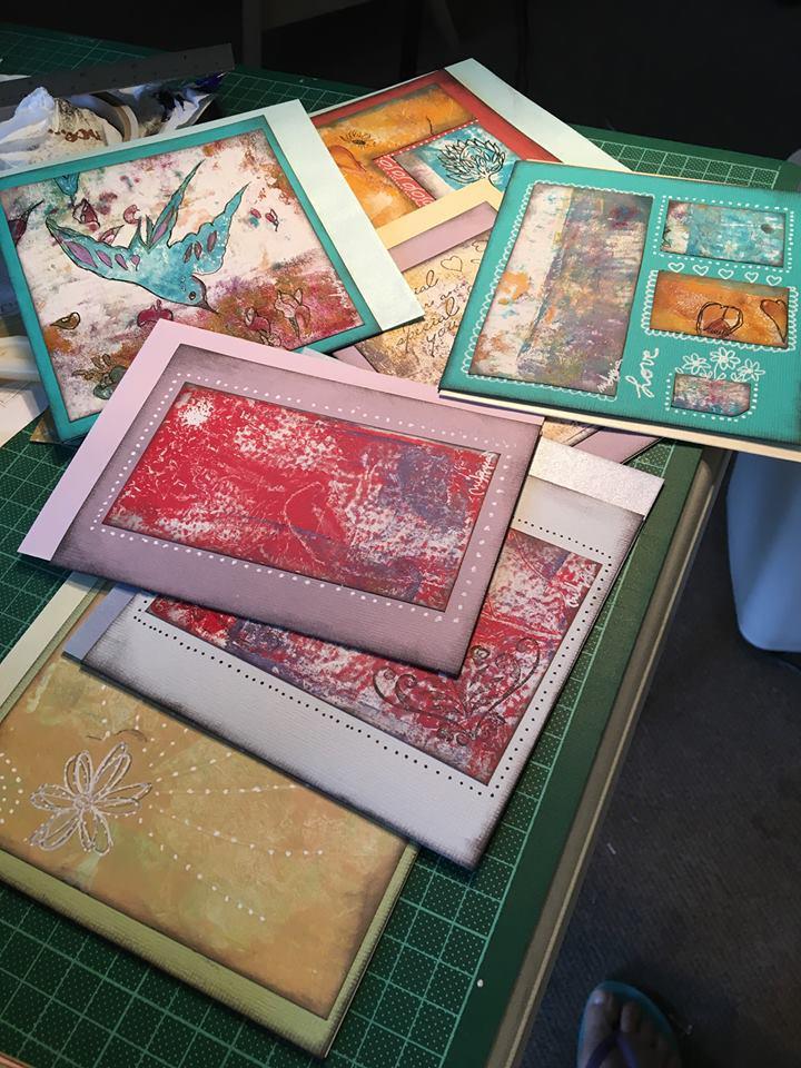 GELLI PRINT CARDS