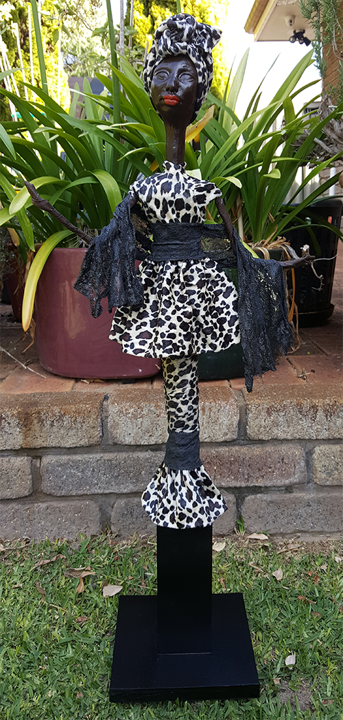Mangeni - African doll fabric sculpture