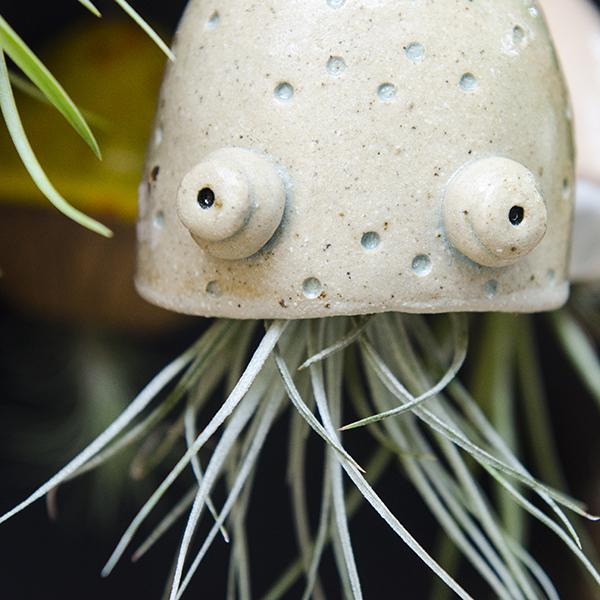 Ceramic Pottery Jellyfish Air Plant