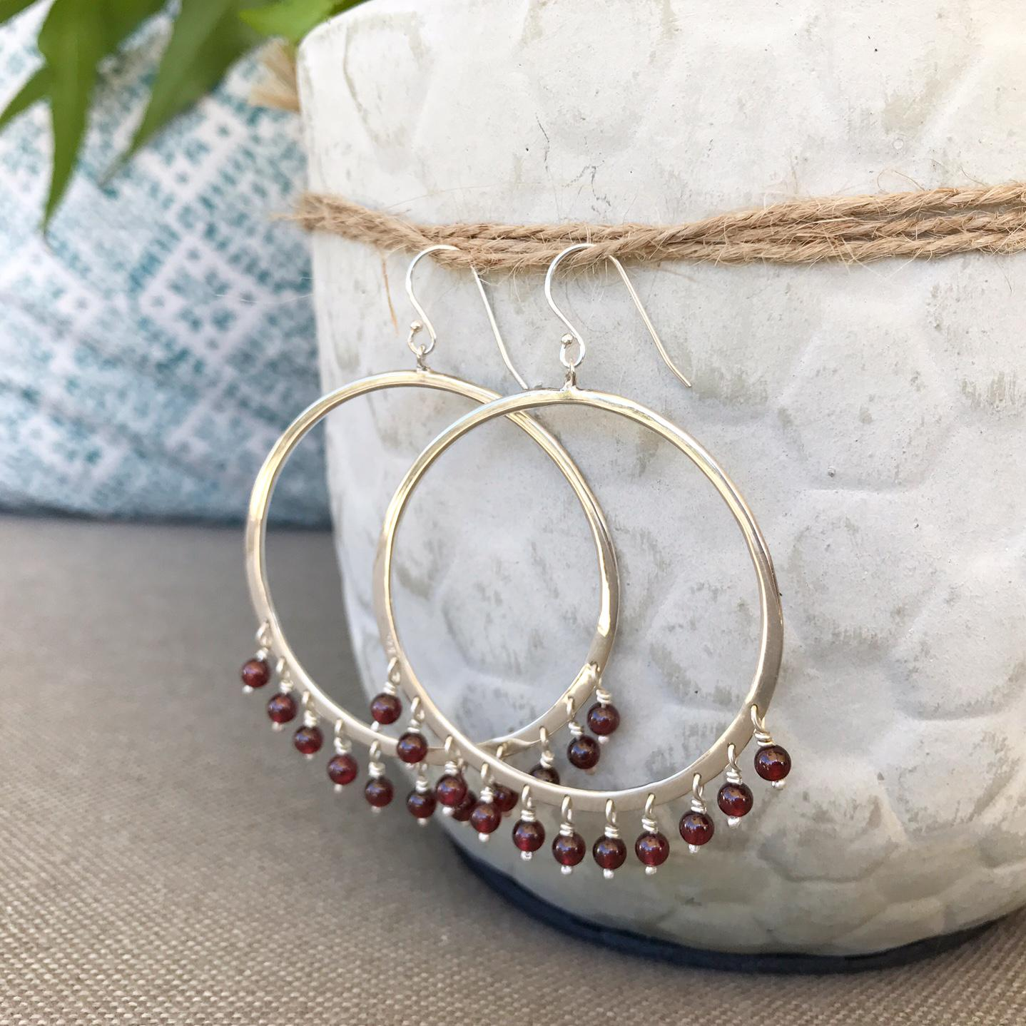 NOOSHON STATEMENT BEADED EARRINGS