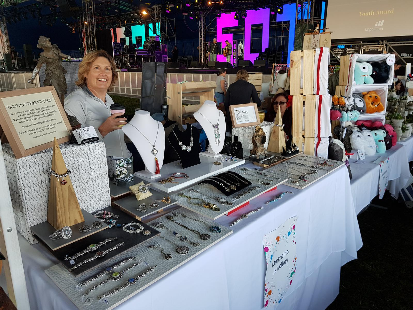 Our stall layout at Elizabeth quay 2017