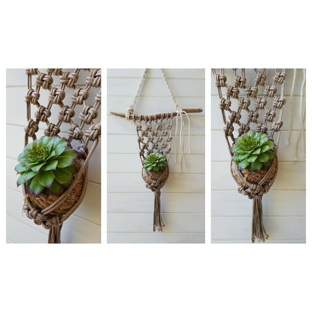 Unique macrame hangers
