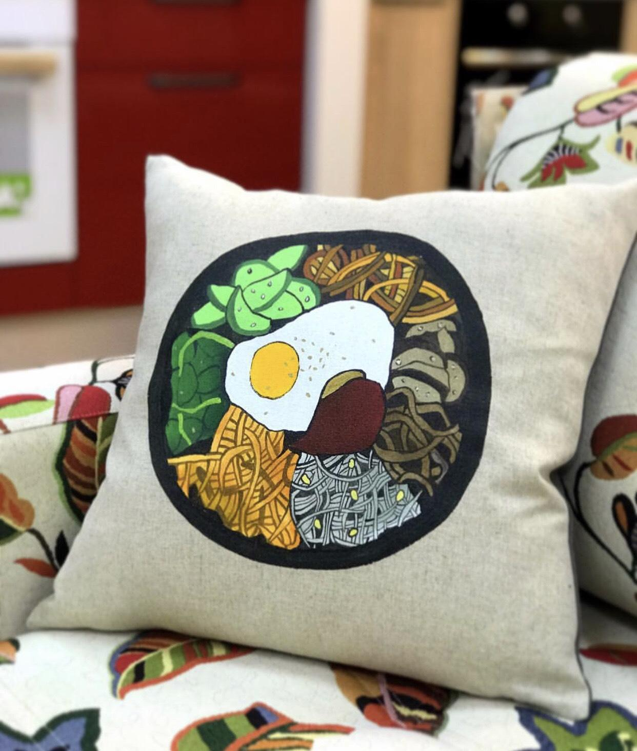 Korean bibimbap cushion
