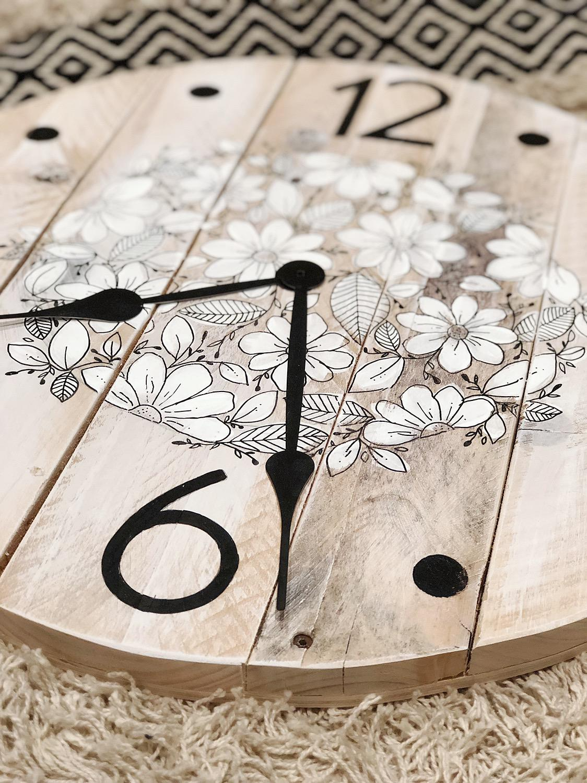 Reclaimed wood clocks