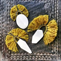 Meraki Designs porcelain and linen pendants