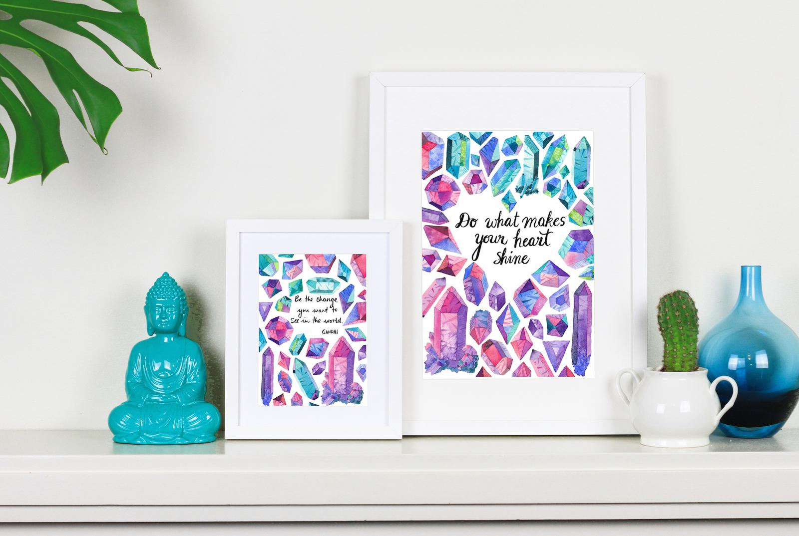 New crystal inspiration prints