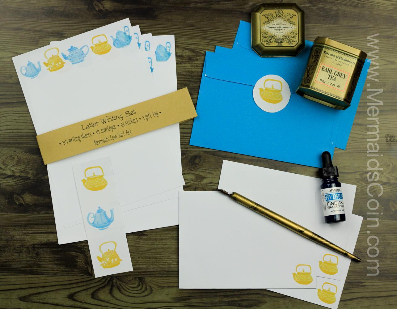 The Tea Drinker's Letter Writing Set