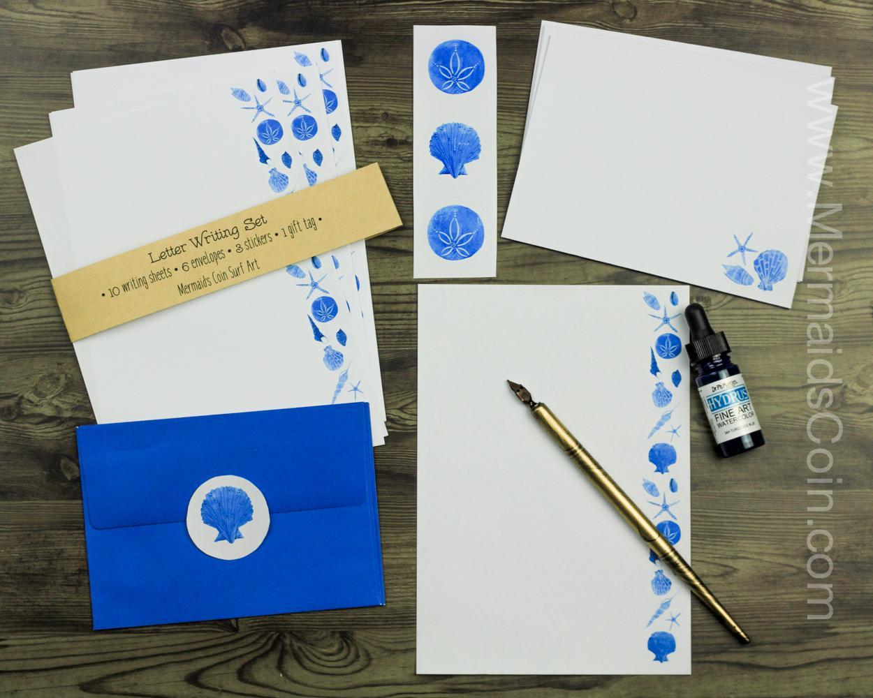 Blue Seashells - Letter Writing Set