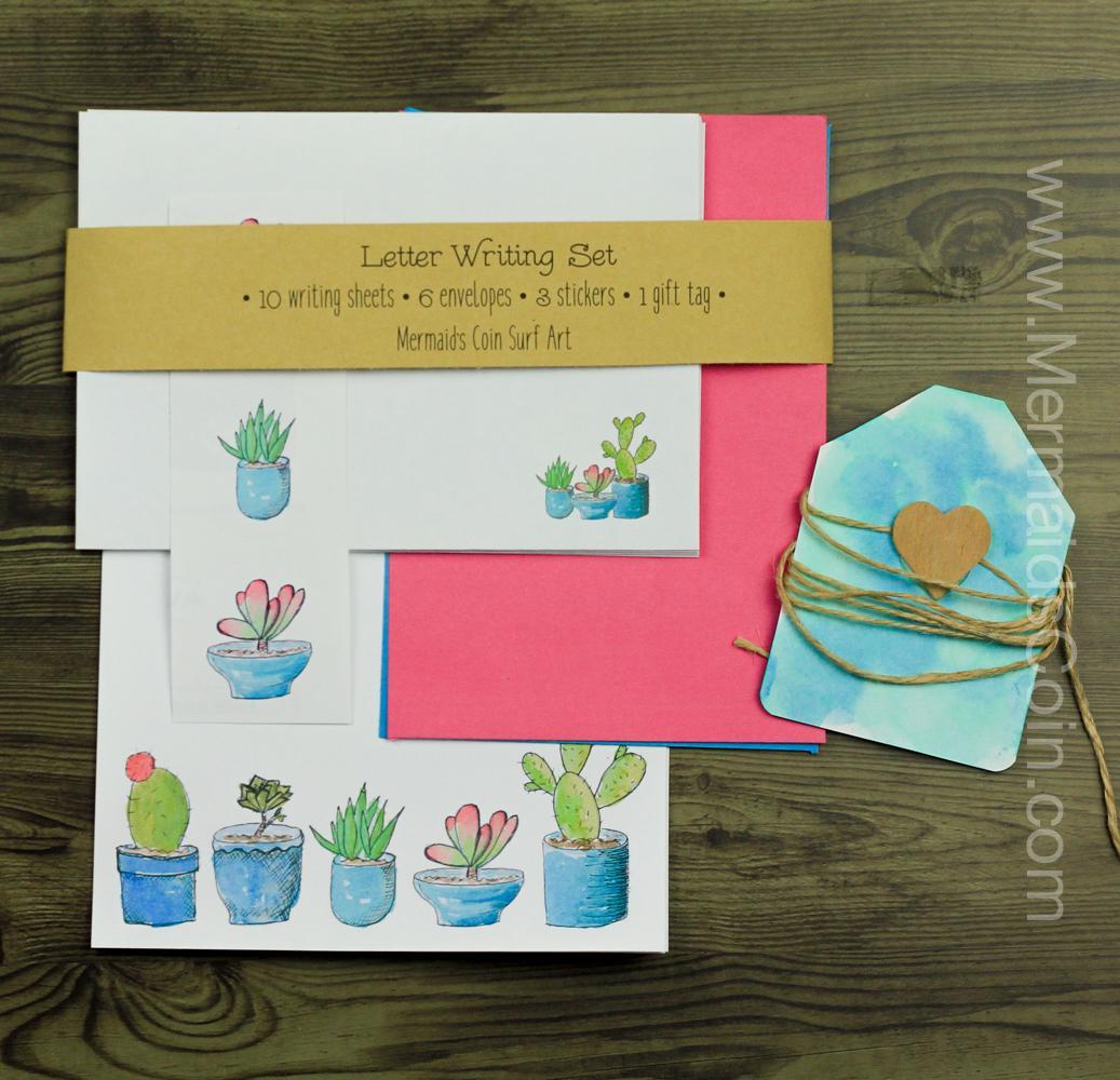 A Succulent Letter - Writing Set