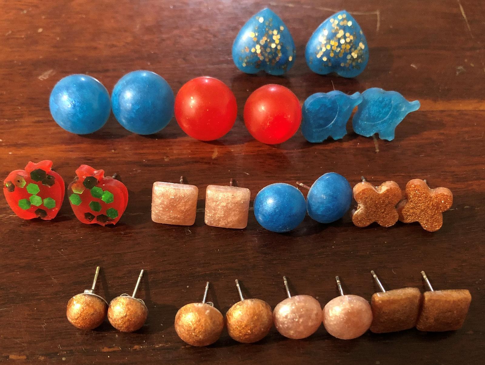 Variety of resin earrings