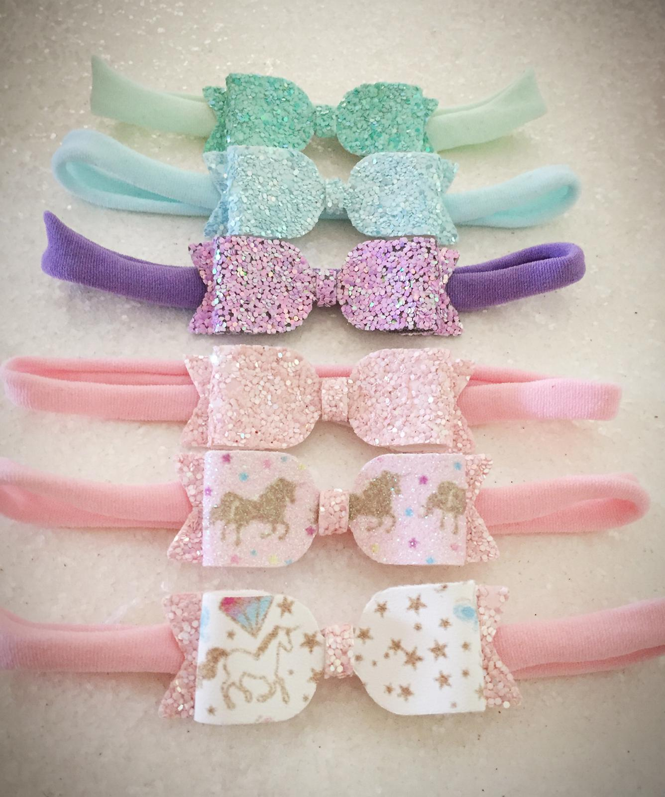 Mini bow headbands