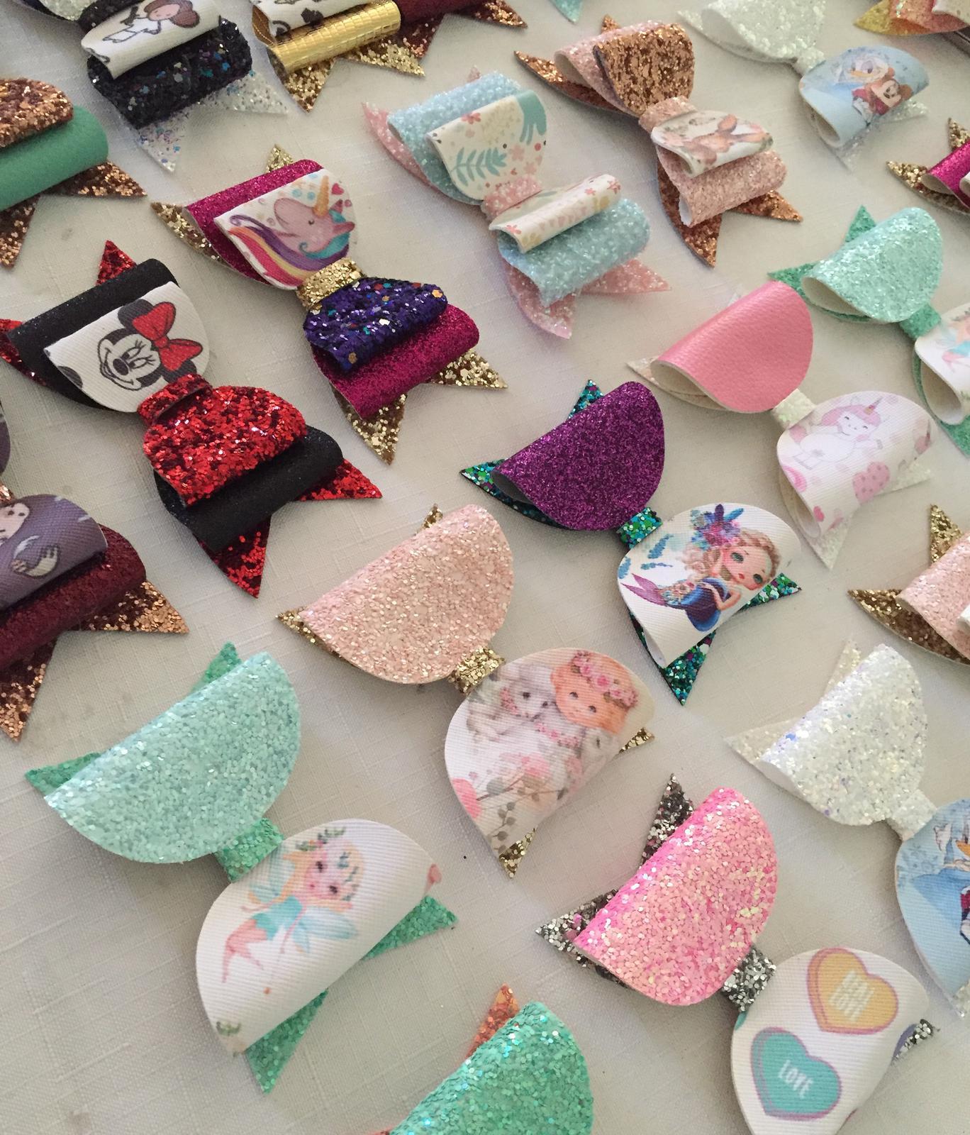 Handmade glitter bows