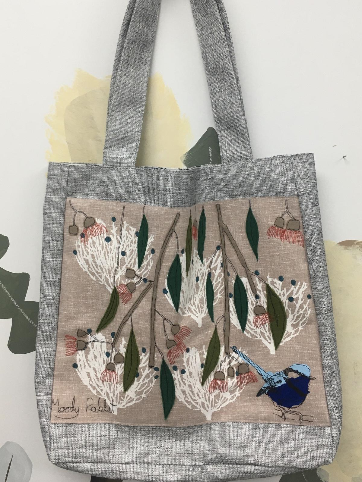 Embroidered Wren Bag