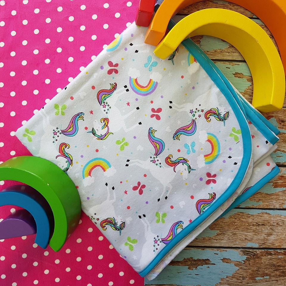 Flannelette Wrap - Unicorn Delight