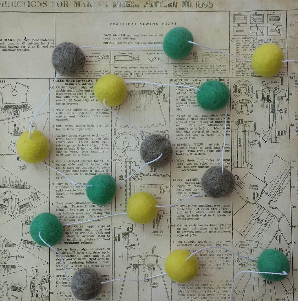 Pom Pom Garland - Lemons and Limes