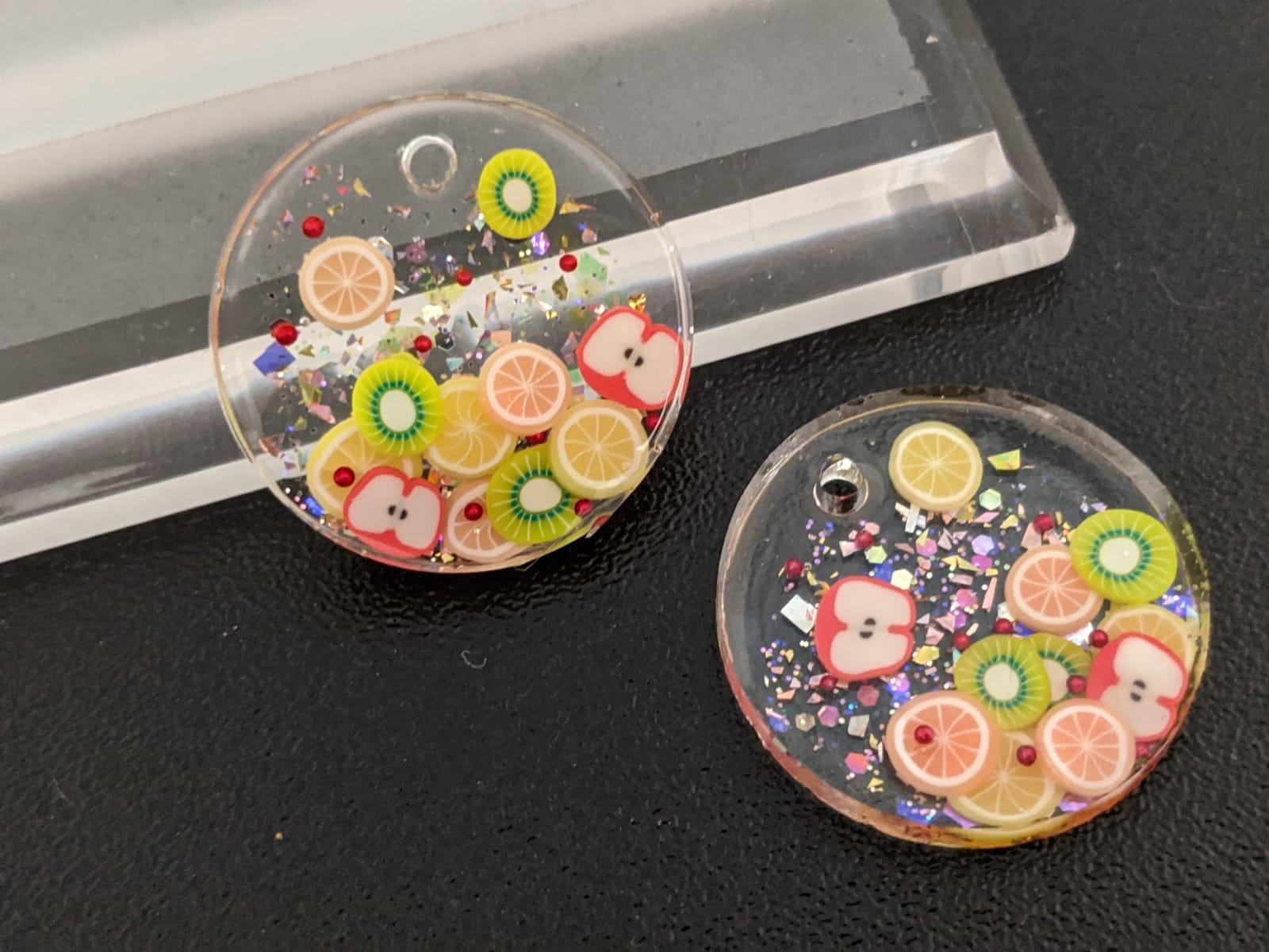 Fruit dangle earrings