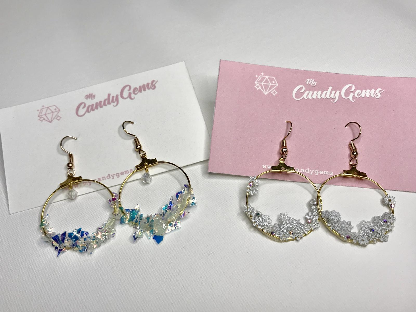 Winter hoop earrings