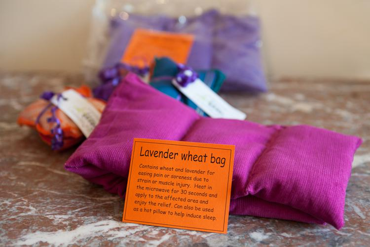 Lavender pillows and wheat bags