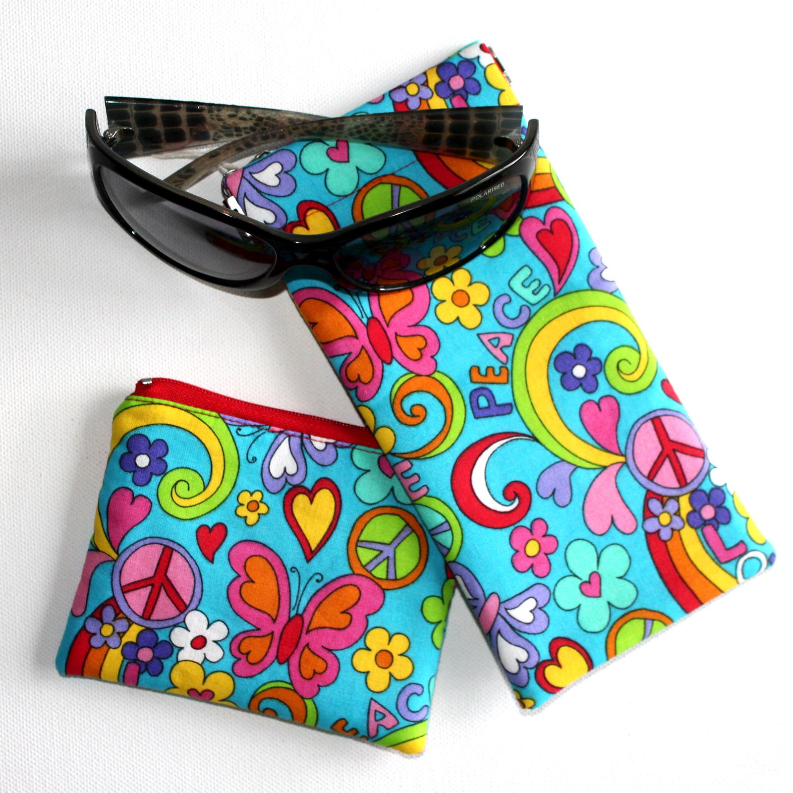 Coin purse and sunglass pouch