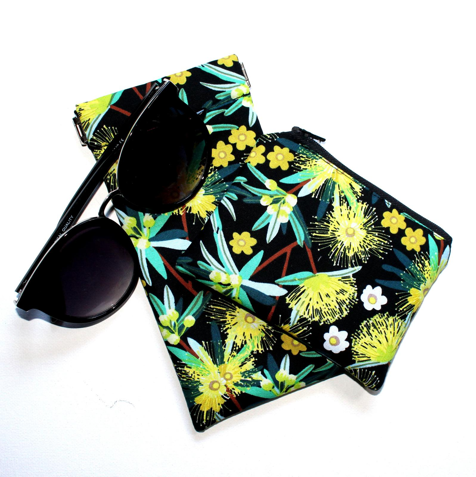 Coin purse and sunglass pouch sets
