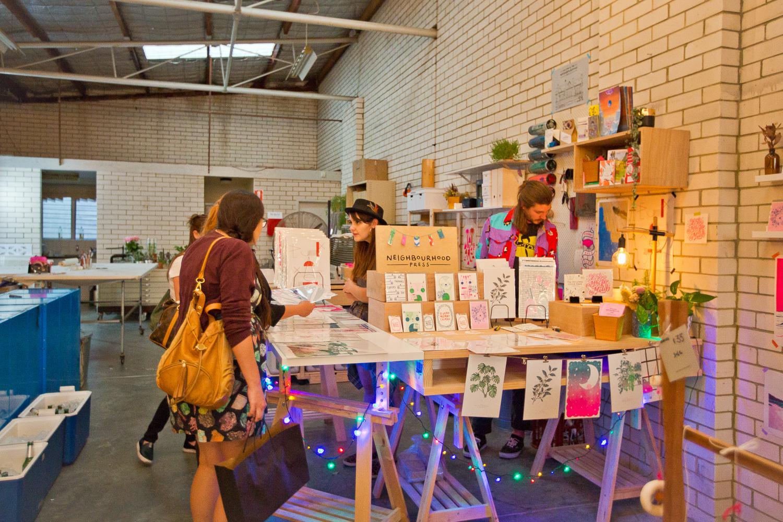 NBHD Press at Cowle Street Co-op Night Market