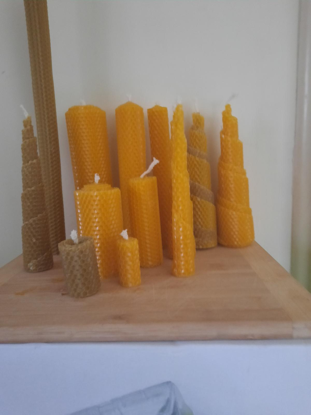 Nur Beeswax Rolled CandleVarieties