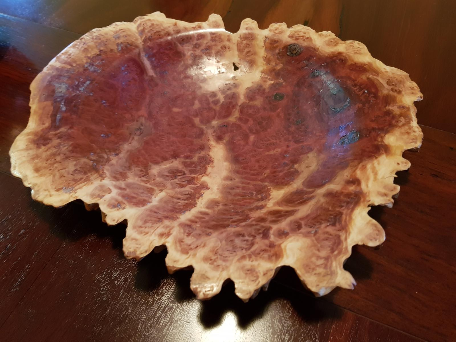 burl bowl live edge