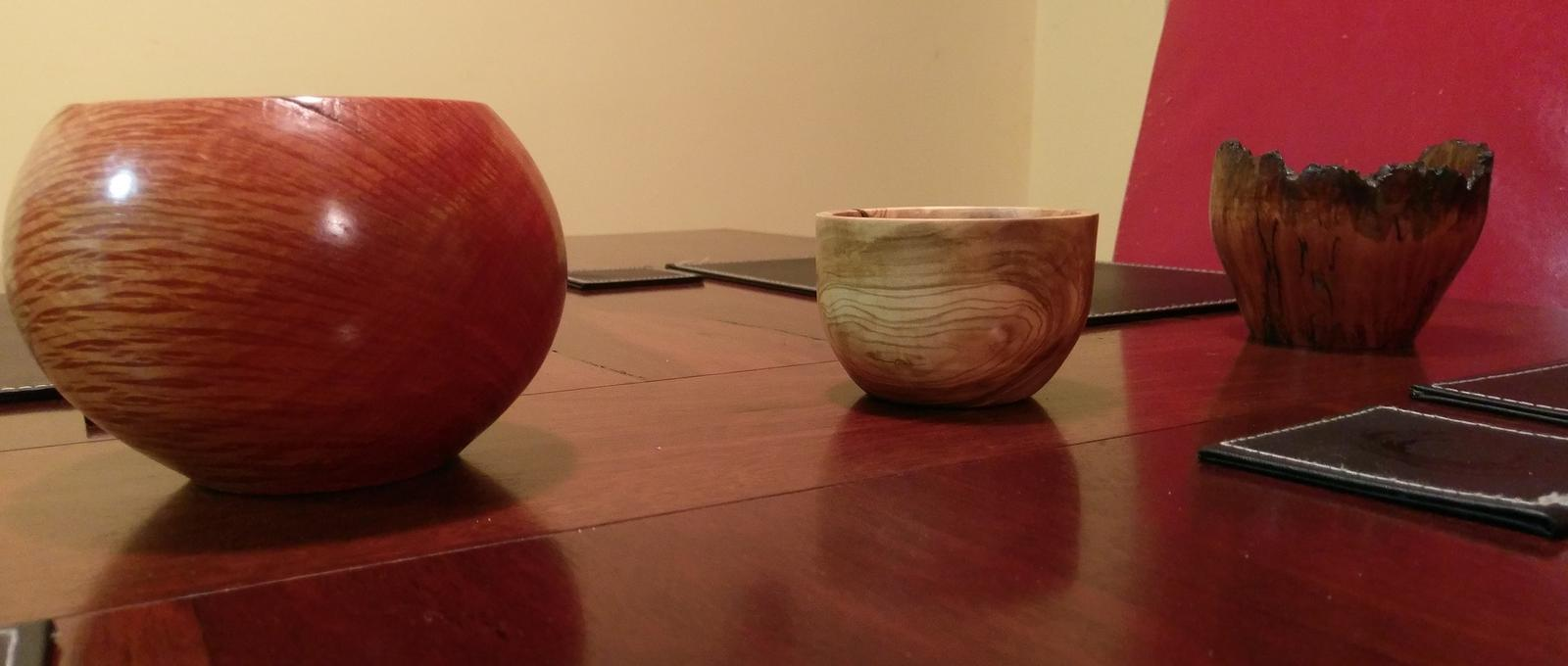 series of turned bowls
