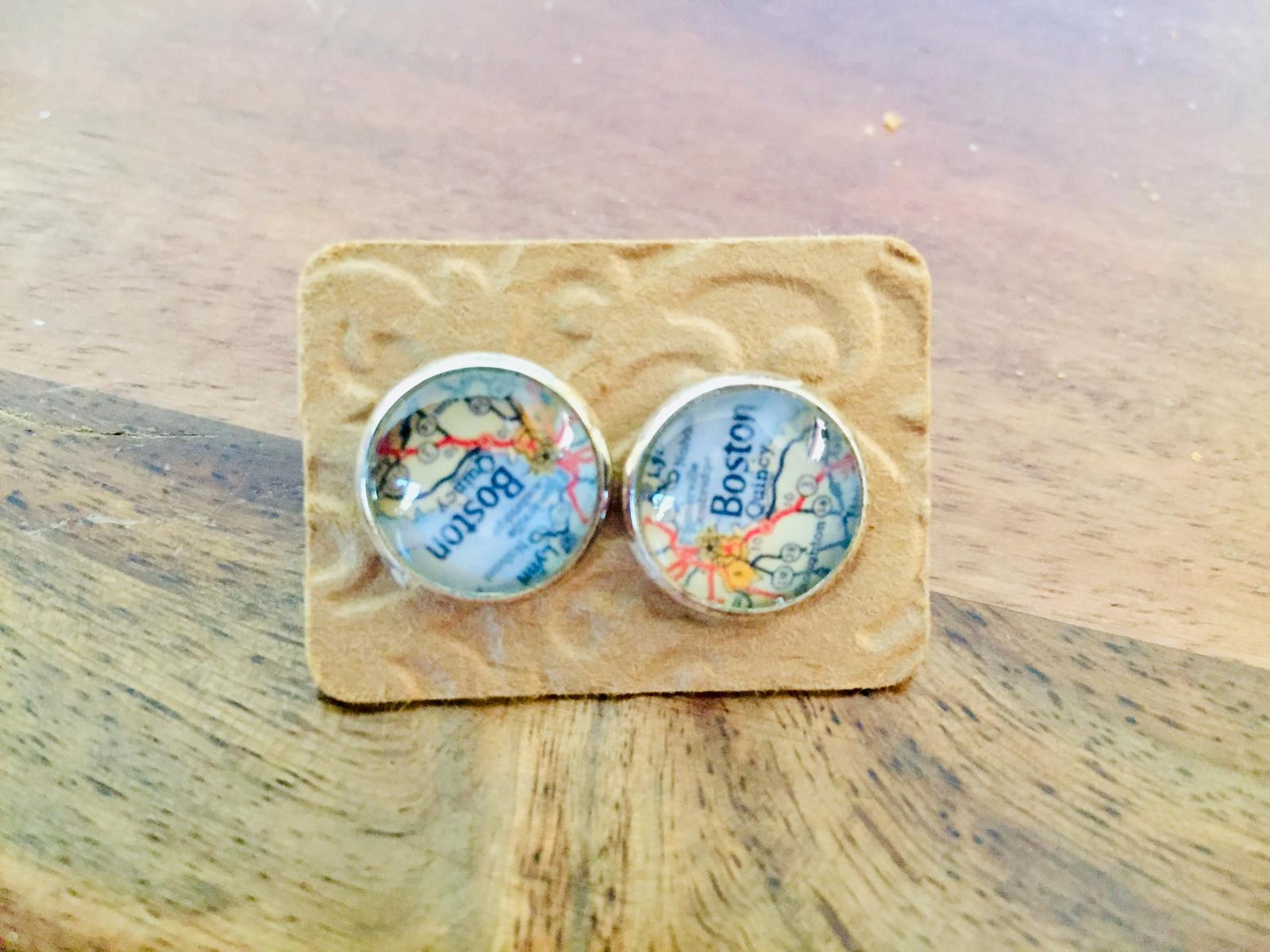 Cabouchon Glass Earrings