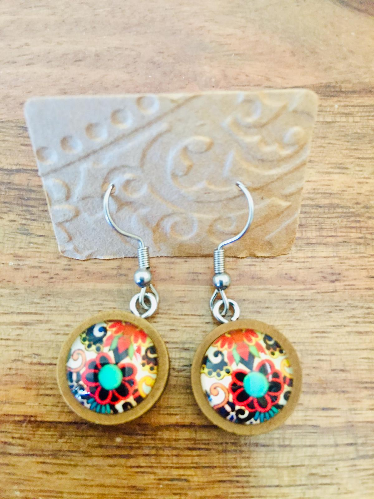 Cabouchon earrings dangly