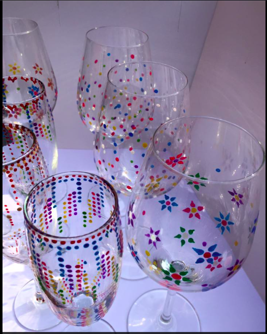 Some of my hand painted glasses