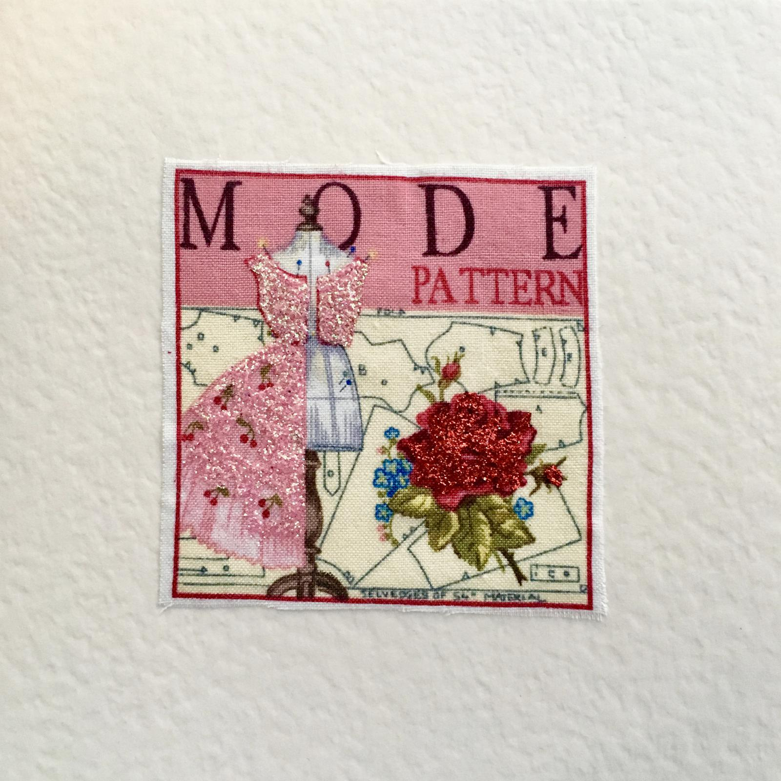 Handmade fabric and glitter cards