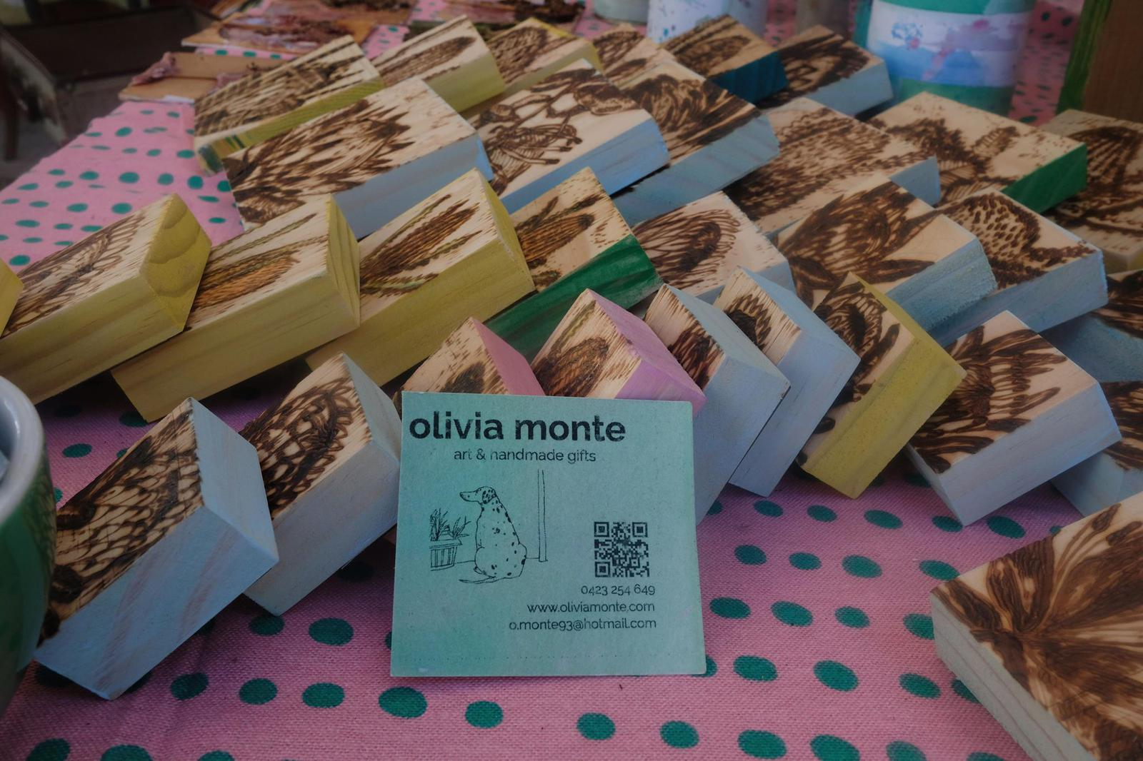 olivia monte products and business cards
