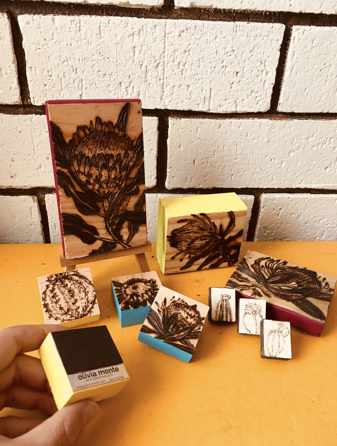 olivia monte products woodblock magnets