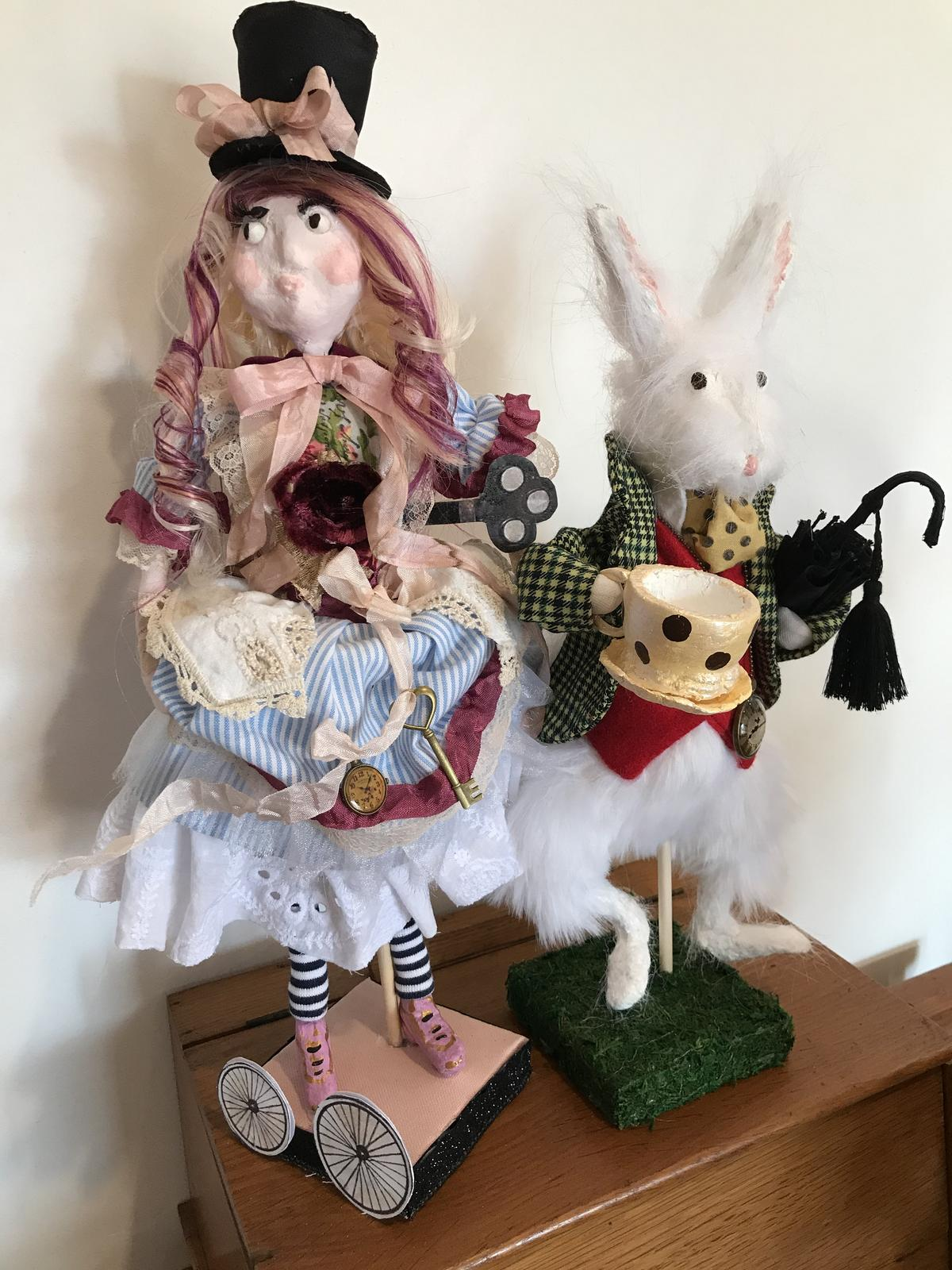 Steampunk Alice with White  Rabbit