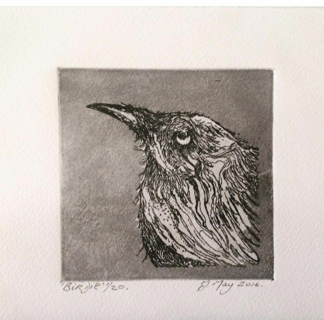 Intaglio and Dry Point hand pulled Print work.