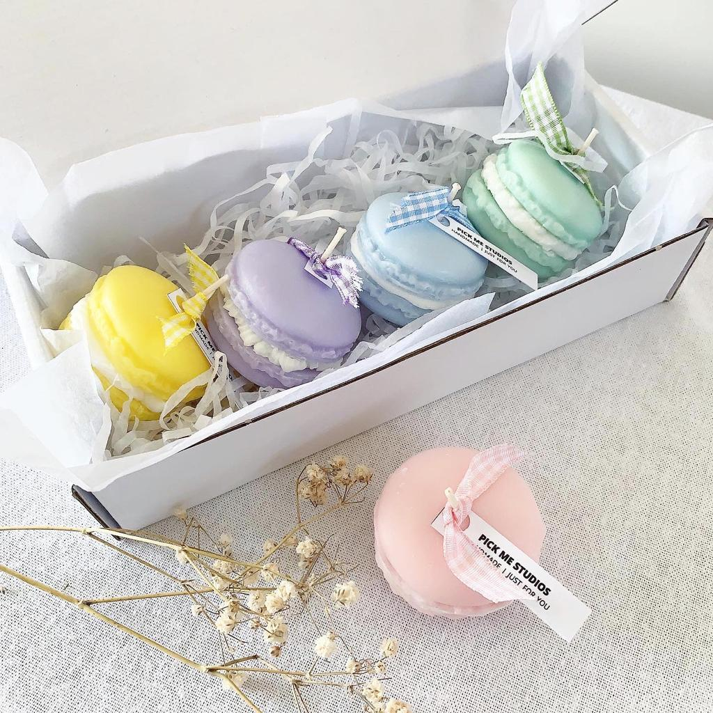 Handmade Macaron Soy Wax Scented Candle
