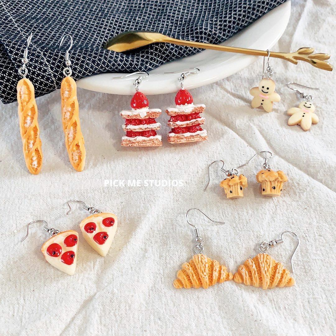 Handmade Resin Food Dessert Earring