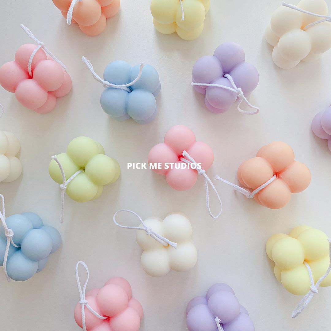 Pastel Colour Soy Wax Bubble Scented Candles