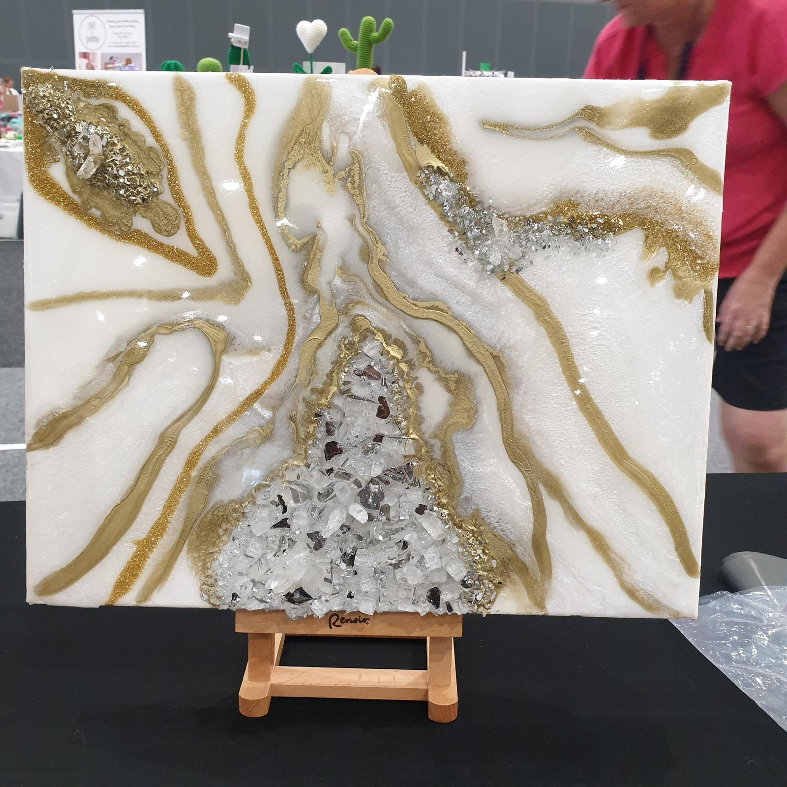 Geode art canvas