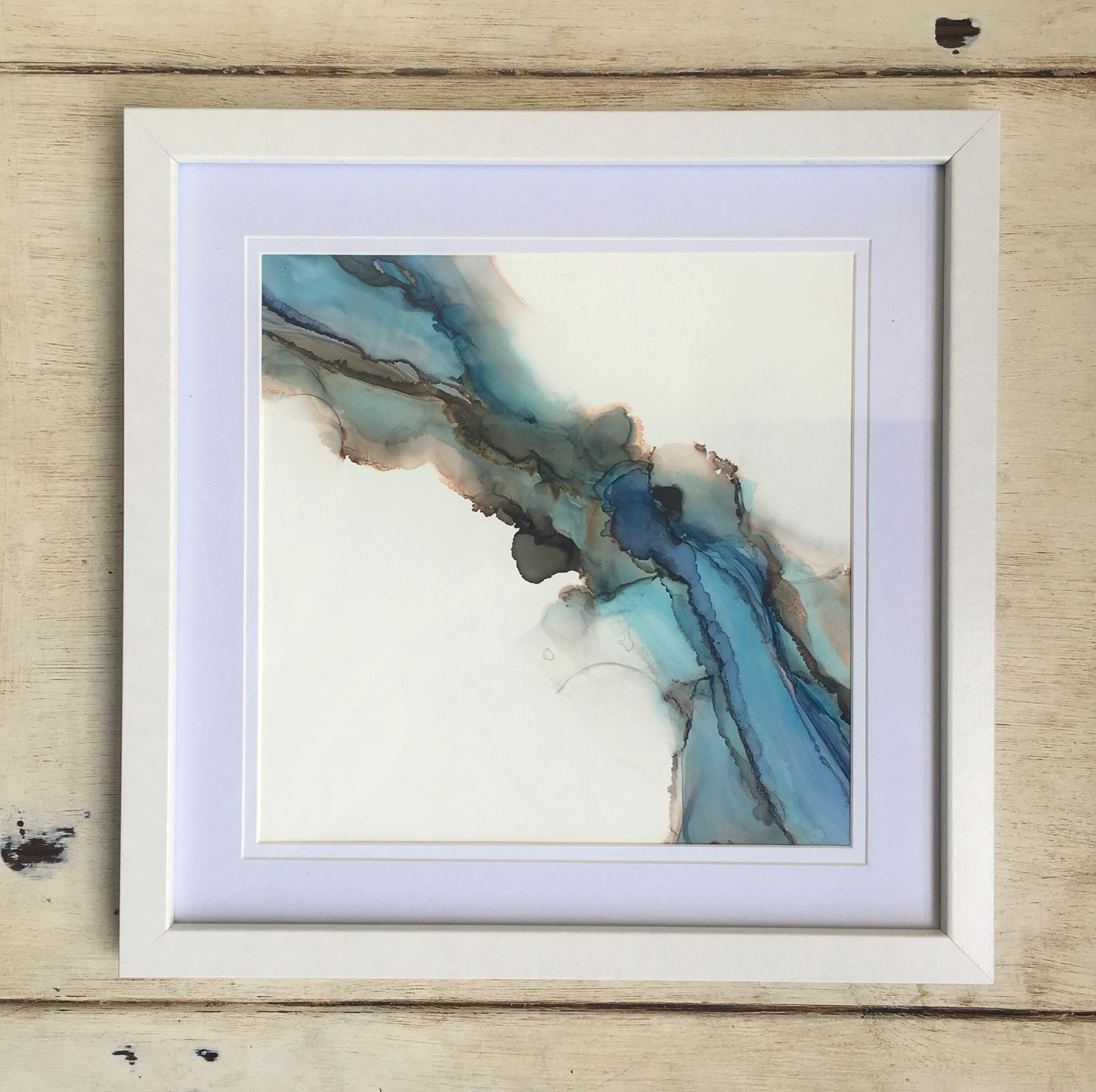 Framed Original - Alcohol Ink