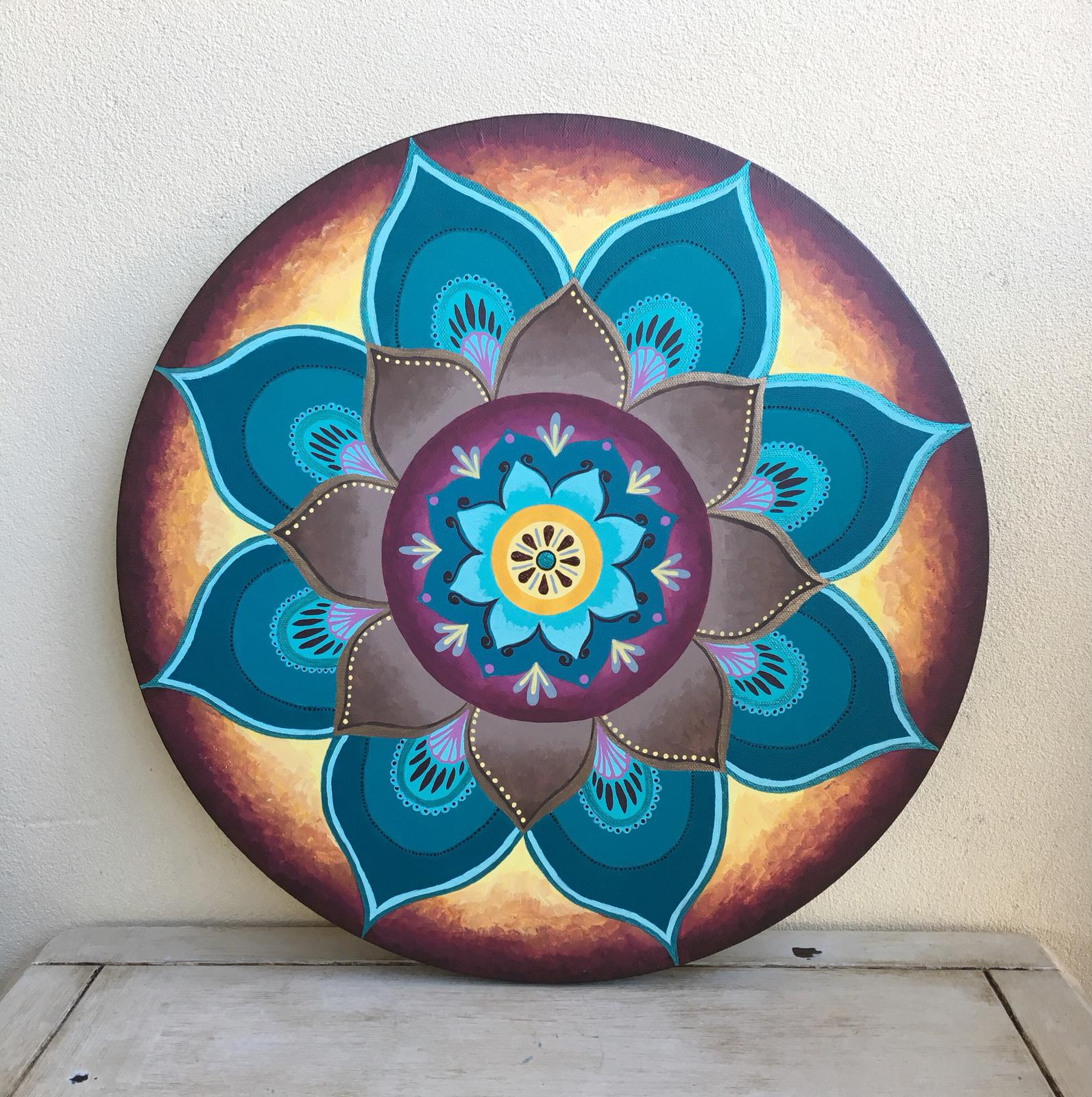 Acrylic on Canvas - 40.5cm diameter