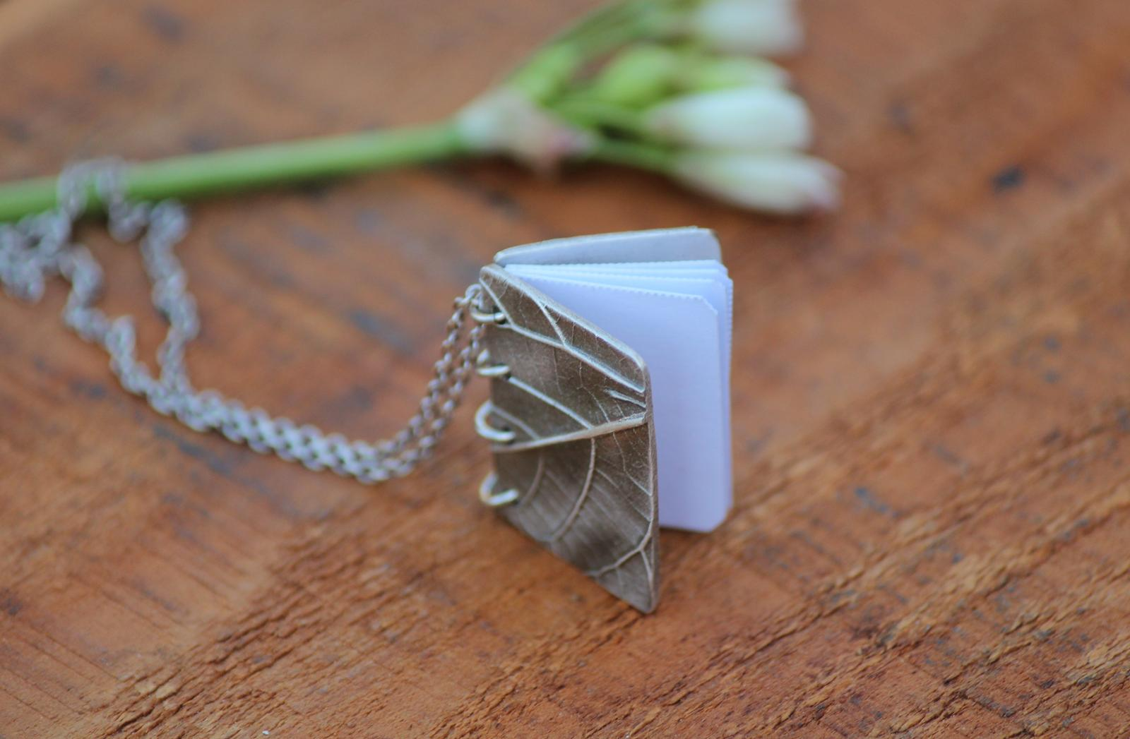 Tiny Book Necklace