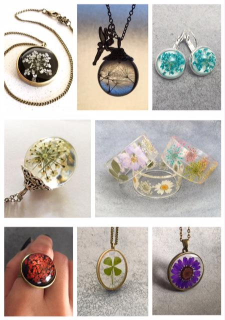 Handcrated Resin Flower Jewelry from Pap&Fae